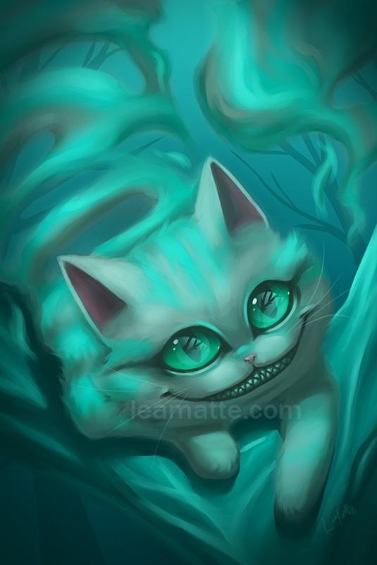 картинки алиса и чеширский кот 015