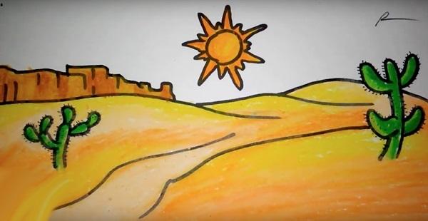 картинки для детей пустыня 005
