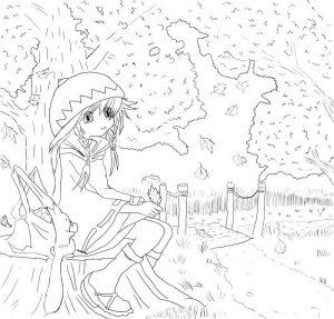 картинки карандашом про осень 006