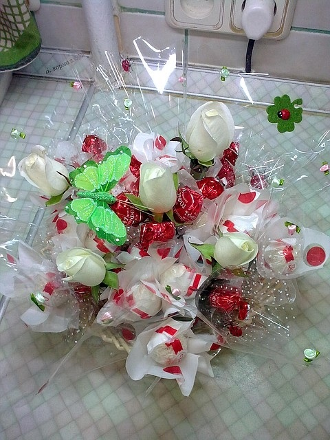 корзинки из конфет 019