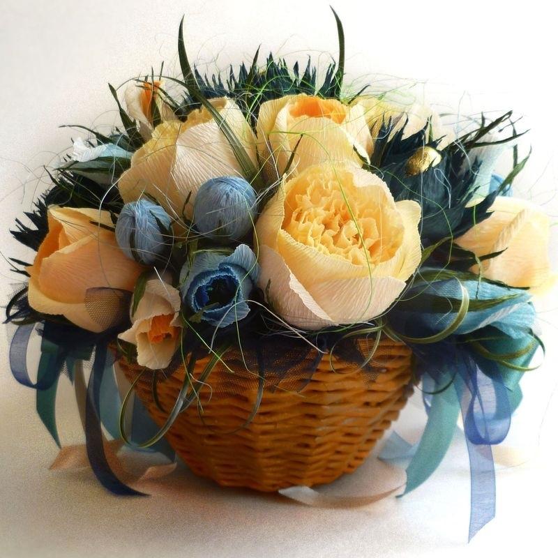 корзины с цветами из конфет картинки водопады