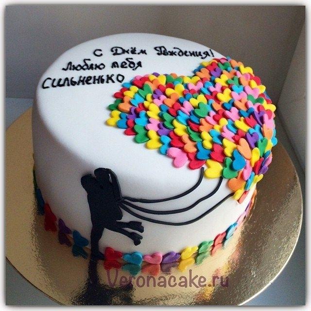 кремовый торт мужчине 002