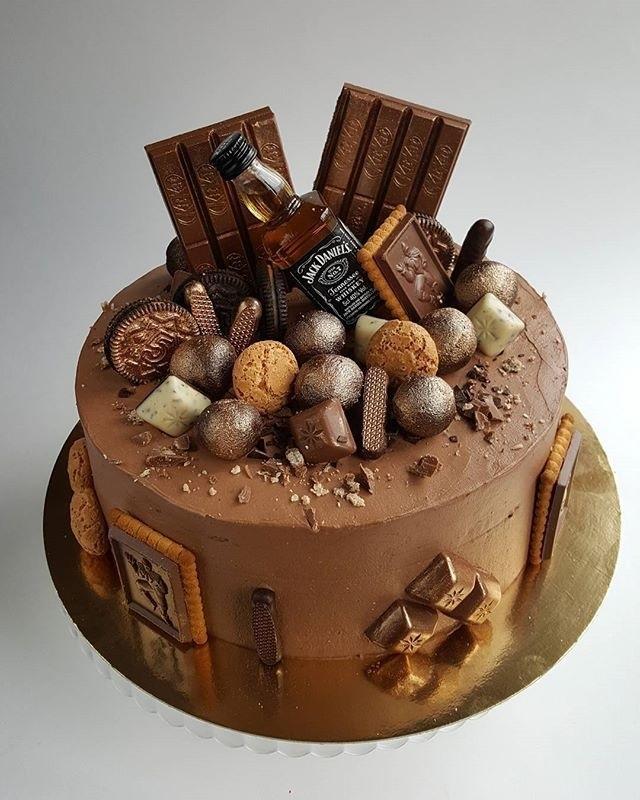 кремовый торт мужчине 003