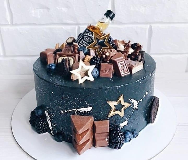 кремовый торт мужчине 004