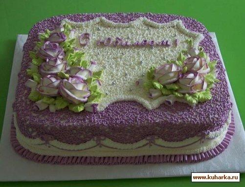 кремовый торт мужчине 012