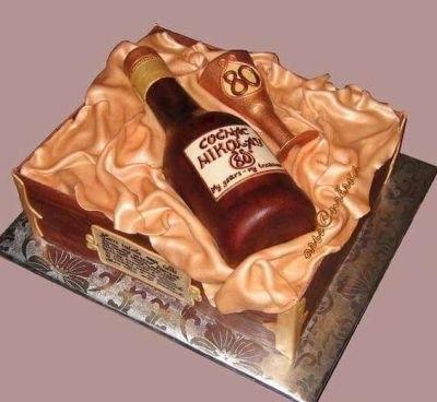 кремовый торт мужчине 019
