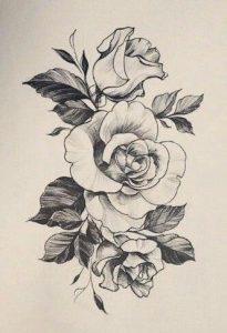 крутые розы тату 022