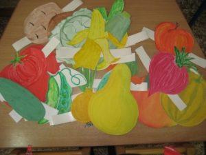 маска овощей для детей на голову 006