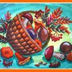 Натюрморт осень для детей — красивые картины