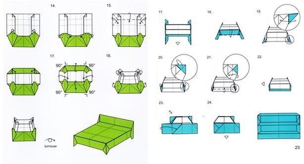 оригами из бумаги для кукол 006