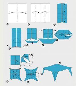 оригами из бумаги для кукол 009