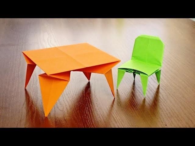 оригами из бумаги для кукол 012