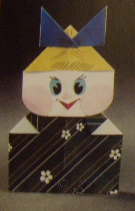 оригами из бумаги для кукол 013