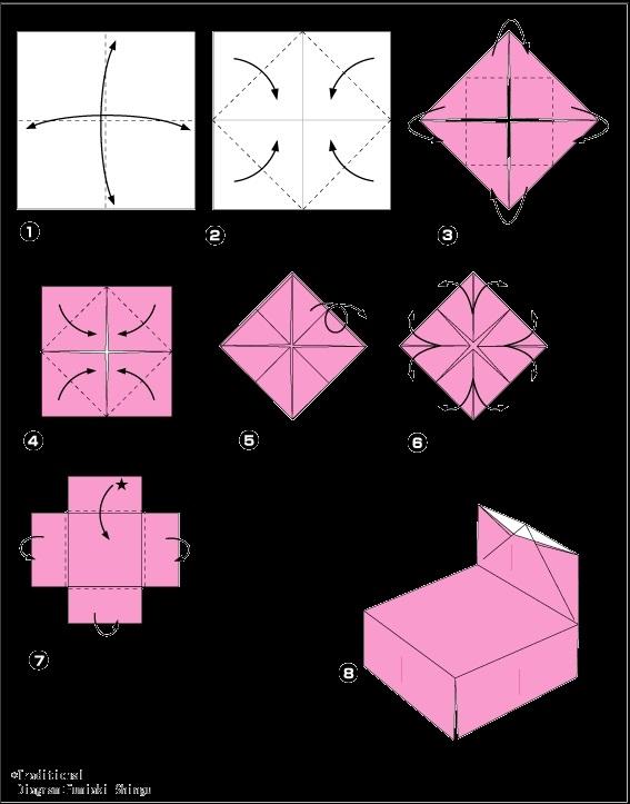 оригами из бумаги для кукол 016