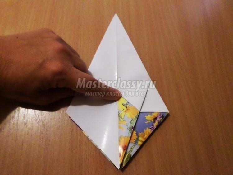 оригами из бумаги для кукол 018