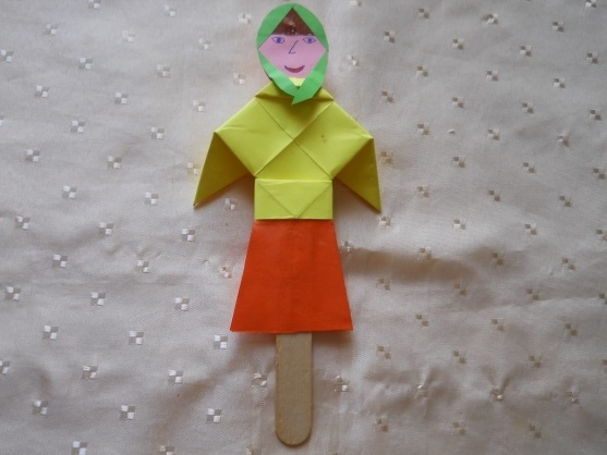 оригами из бумаги для кукол 021
