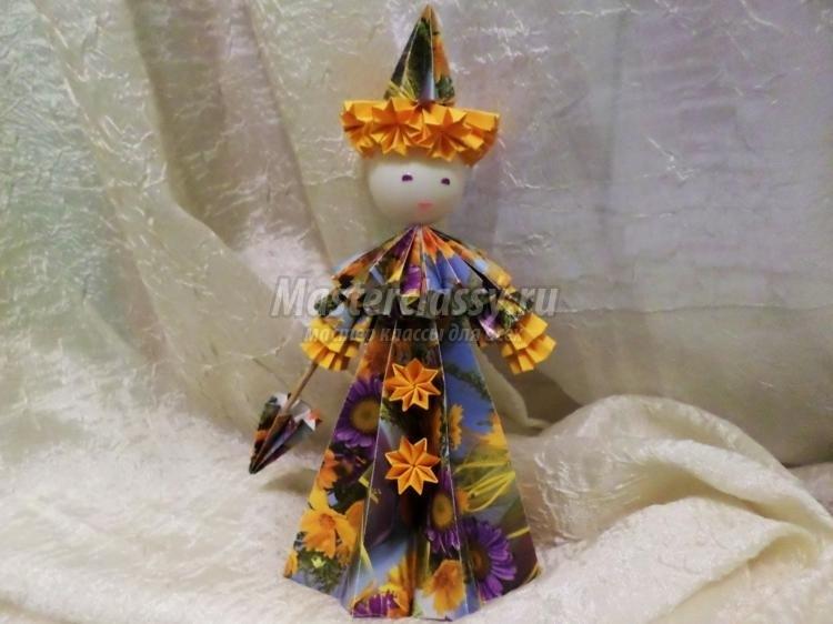 оригами из бумаги для кукол 022