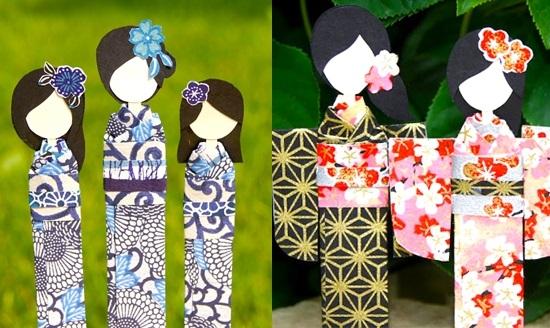 оригами из бумаги для кукол 024