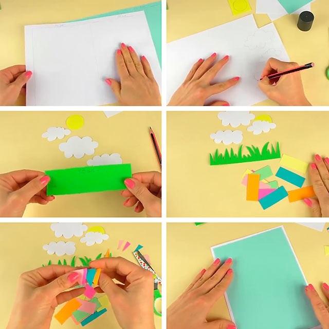 Летний день, схемы открыток своими руками для бабушки