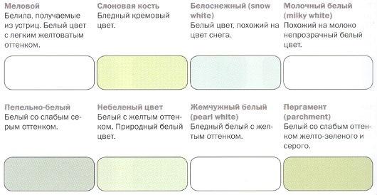оттенки белого цвета палитра 011