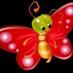 Прикольные бабочки мультяшные — для малышей