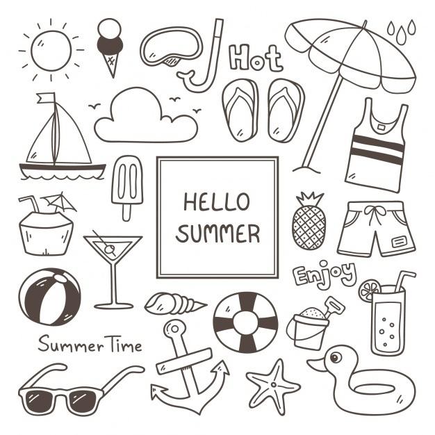 рисунки лето для срисовки 021