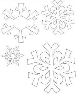 снежинки из фетра шаблоны для вырезания 012