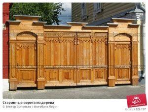 старинные ворота 012