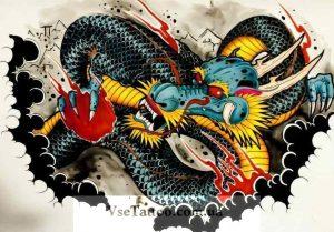 тату японский стиль эскизы 003