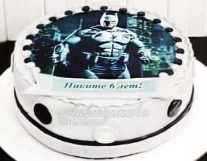 торт без мастики бэтмен 020
