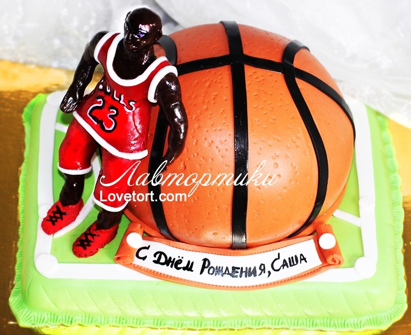 торт в форме баскетбола 001