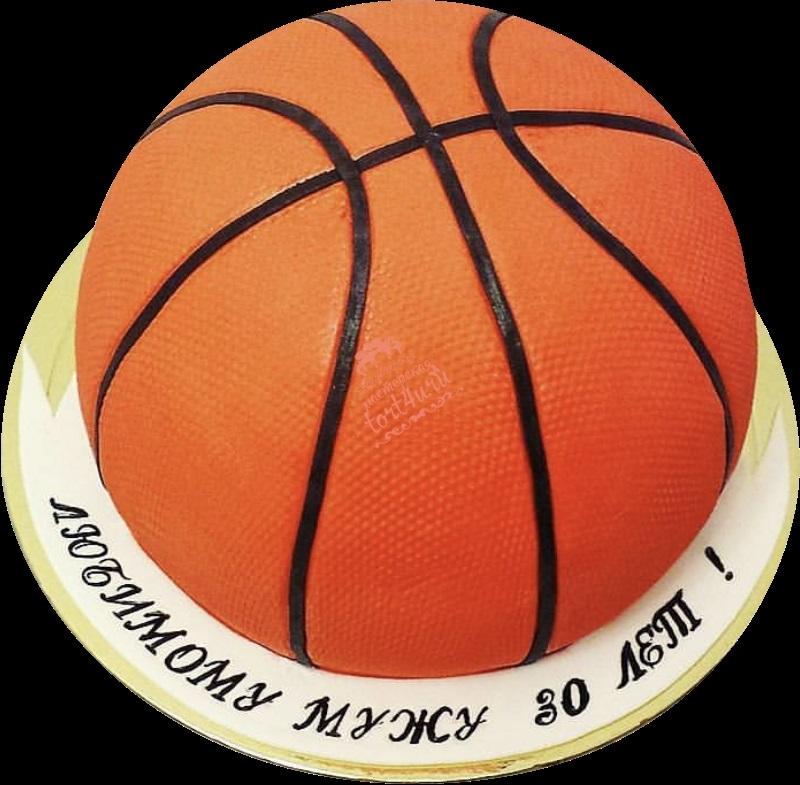 торт в форме баскетбола 002