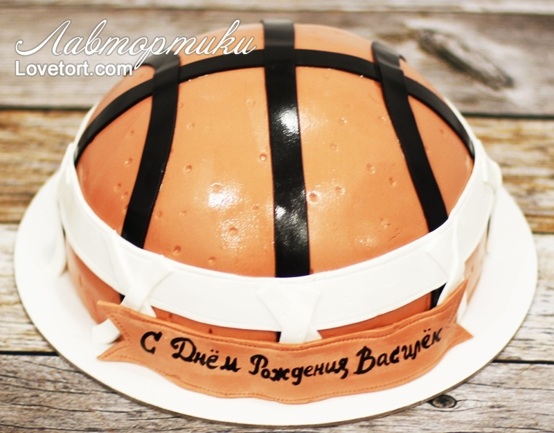 торт в форме баскетбола 003