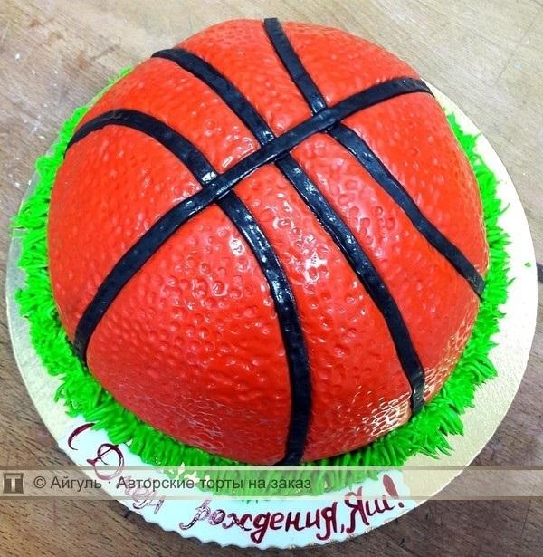 торт в форме баскетбола 004