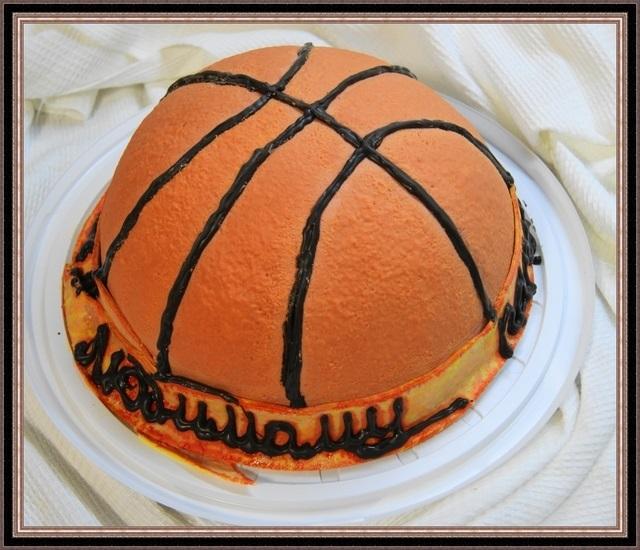 торт в форме баскетбола 005