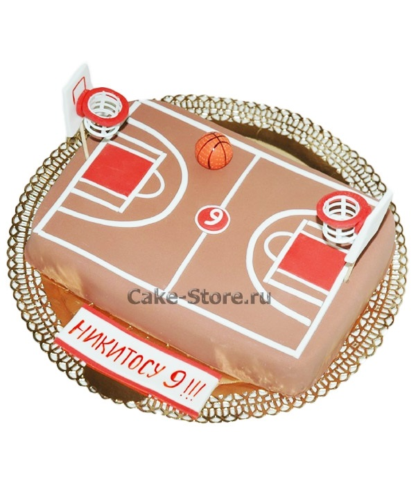 торт в форме баскетбола 006