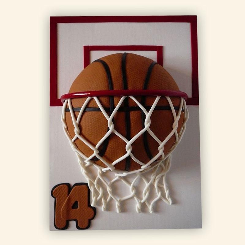 торт в форме баскетбола 007