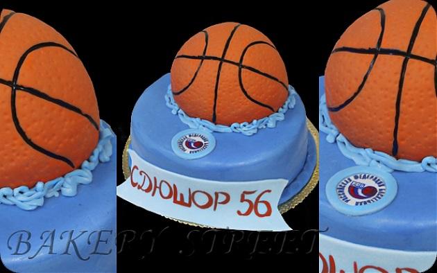 торт в форме баскетбола 008