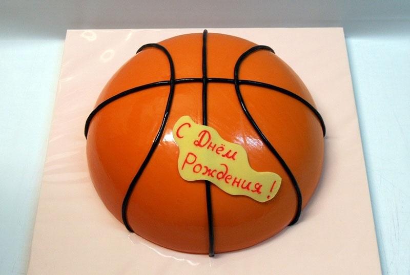торт в форме баскетбола 009