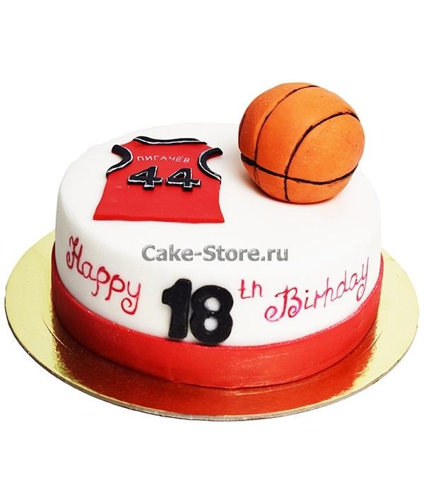 торт в форме баскетбола 010
