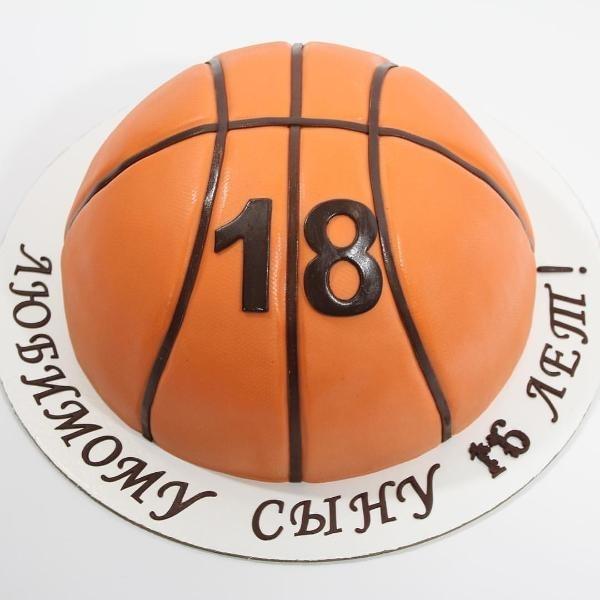 торт в форме баскетбола 013
