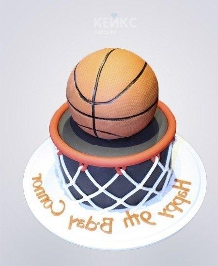 торт в форме баскетбола 014