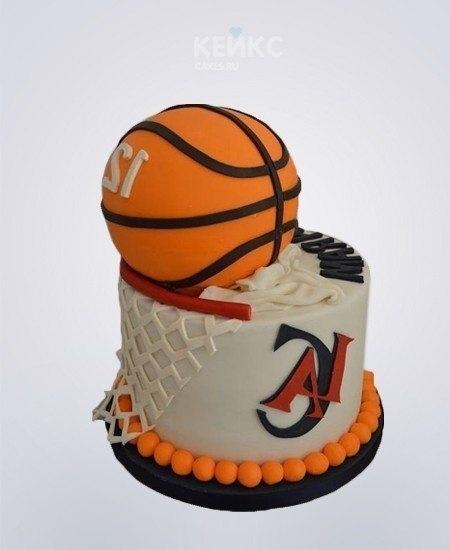 торт в форме баскетбола 015