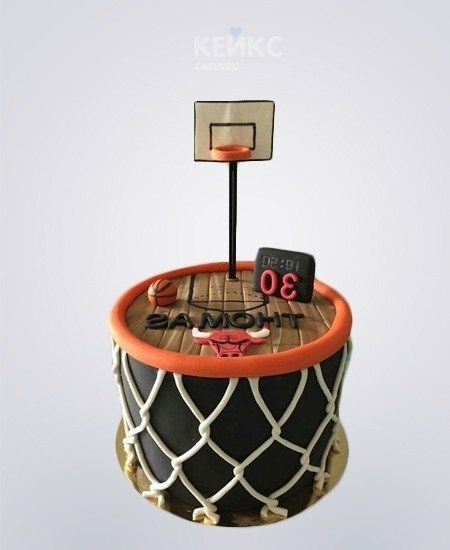 торт в форме баскетбола 016
