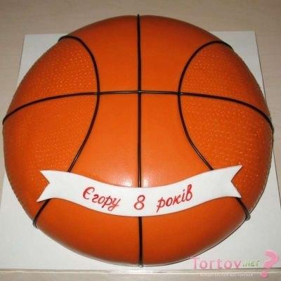 торт в форме баскетбола 018