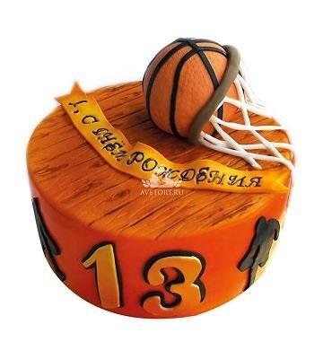 торт в форме баскетбола 019