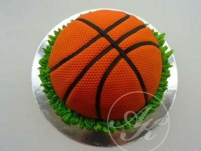 торт в форме баскетбола 020