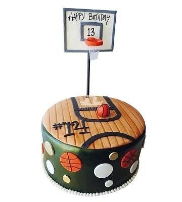 торт в форме баскетбола 021