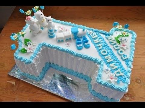 торт на 1 год без мастики для мальчика 016