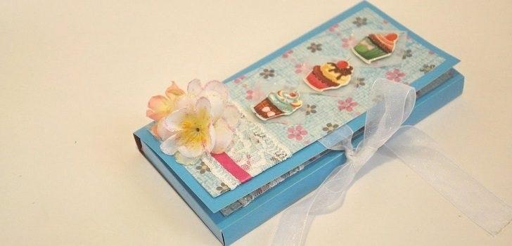 Днем рождением, открытка упаковка для шоколада